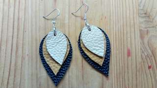 Handmade Real Leather Dangle Earrings