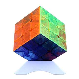 He Shu Transparent Color Stickerless Cube Puzzle