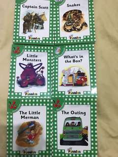 A set of 6 Phonics Fiction and Non-Fiction Books Suitable for Ages 4-6