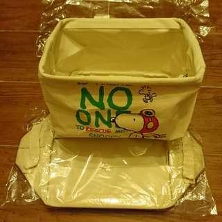Snoopy 史路比 收納盒 袋 接叠 兩個