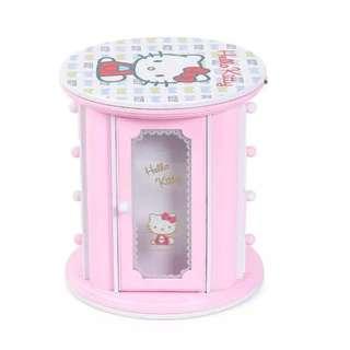 Cartoon Hello Kitty Musical Cosmetics Jewel Mirror Storage Box Best Birthday Gift For Girl