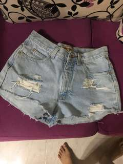 Hotpants denim babyblue highwaist pants