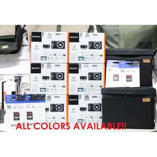 New Sony A6000 Kit E PZ 16-50mm Lens + Extra Sony Battery + 16GB SD Card (Sony Malaysia)