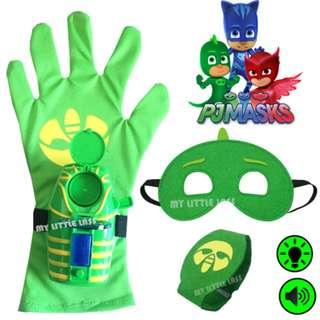 Pjmasks Gekko Hero Super Heroes Mask with Glove Launcher