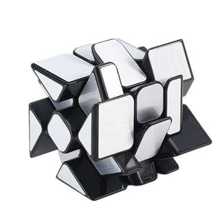 Cubing Classroom Magic Cube Mirror Blocks Golden 3x3x3 Speed cube-Silver