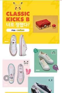 [Fila X Pokemon] Original Classic Kicks B Authentic Sneakers