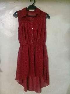 Dark red dress