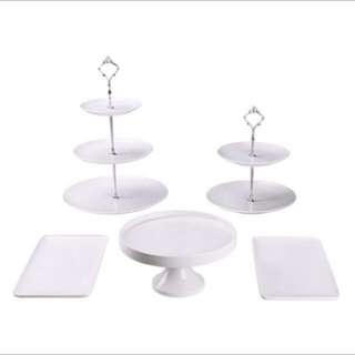 Cake Stand and dessert plate (for rent)