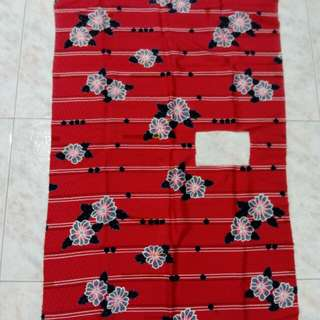 New soft red floral fabric with cutout