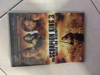 Dvd the scorpion king 3