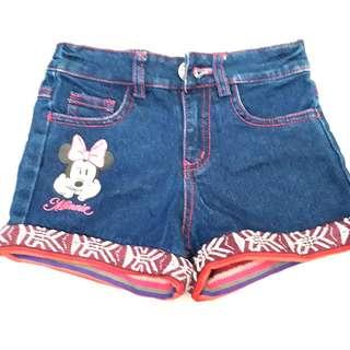 Minnie mouse celana pendek short pants for girl