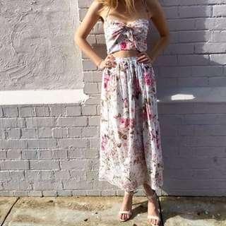 (SIZE 0 or SIZE 3) Zimmermann Eden Floral Embroidered Tie Dress