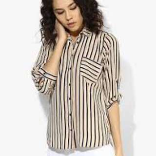 Dorothy Perkins Stripe Wrap Back Shirt