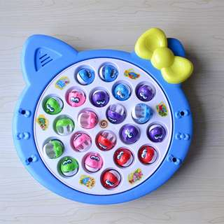 Electronic Rotating Megnetic Fishing Pool Game with Music-Kitty/Angrybird
