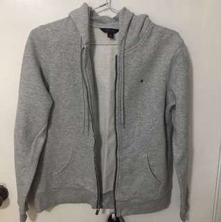 NEW AUTHENTIC Tommy Hilfiger Jacket Grey Hoodie SMALL