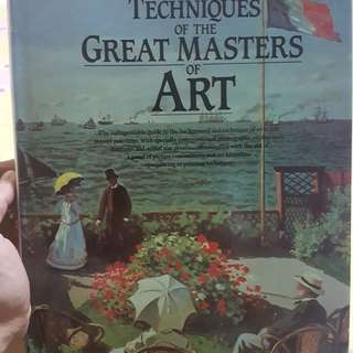 Techniques of great masters of art