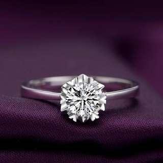 S925 sterling silver Diamond Ring