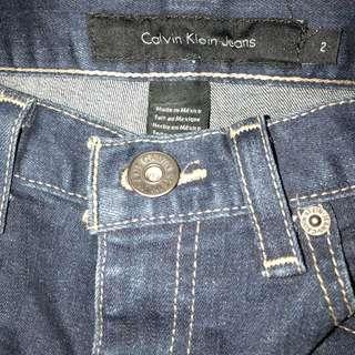 Calvin Klein Skinny Jeans (Flare) Sz 2 Petite