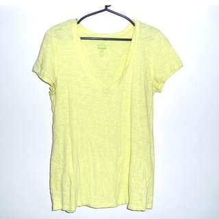 Charity Sale! Authentic Old Navy Women's Cotton T-shirt Yellow Size Medium Short Sleeves