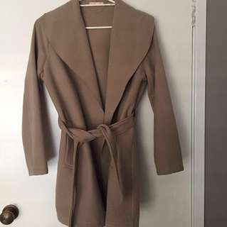 Waterfall Suede Coat size 10/M