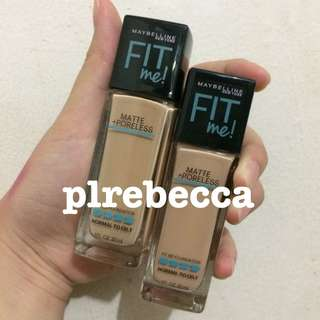[NEW] MAYBELLINE FOUNDATION LIQUID MATTE DEWY SMOOTH OILY SKIN FIT ME SHARE IN JAR ORIGINAL ORI ASLI