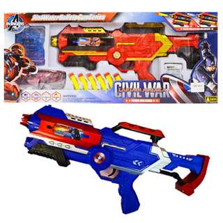 Civil War Heroes 2 in 1 Water Bullets Gun Series