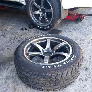 20 inch LENSO Mags with Tires orig Concave lightweight 4 new tires All Terrain for suv fortuner montero everest