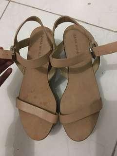 Zara nude strap sandals