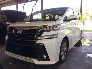 UNREGISTER Toyota Vellfire 2.5 Golden Eye 2016