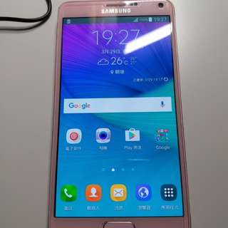 Samsung Galaxy Note 4 粉紅色 淨機有壞