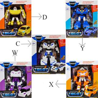 Tobot C,D,W,X,Y Transforming Robot Car to Robot Animation Character