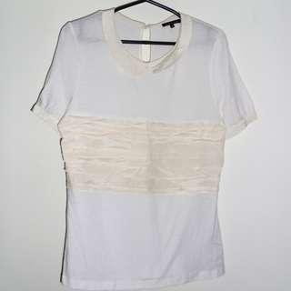 Charity Sale! Authentic Massimo Dutti Women's Dress Shirt Silk Top Size Small