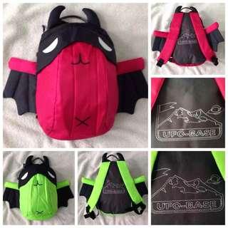 UFO Base Alien Kids Backpack with Wings