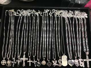 FOR SALE 925 ITALY SILVER (NECKLACE)