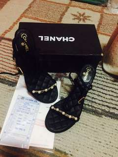 chanel sandals grosgrain
