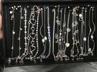 FOR SALE 925 ITALY SILVER (Bracelet & Anklet)
