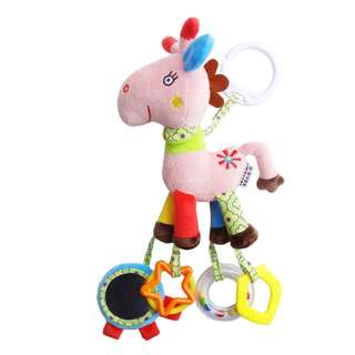 JJ OVCE Animal Design Baby Rattle Toys Plush Stroller Toys Crib Toys 6m+