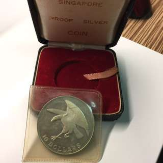 Singapore 1972 Eagle silver proof coin