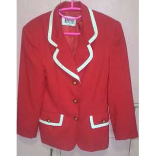 Red Career Jacket/Blazer