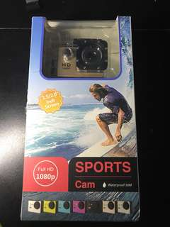 Full HD 1080p Sports Cam Brand New ( Gold ) ( collect Tampines area or Tampines MRT )