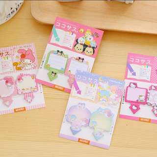 Little twin stars & Tsum tsum post it notepad