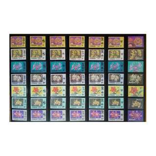 14 STATES OF MALAYSIA 1979 FLOWERS COMPLETE SET MNH