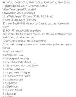 Action Camera New HD DV