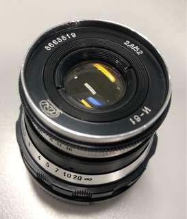 Rare Vintage lens Industar-61 lens 52mm f2.8