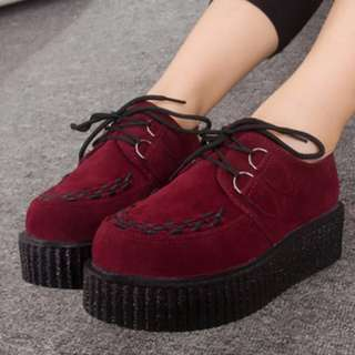 Red Creeper/Goth Platform Shoes