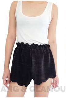 Black Shorts Scallop