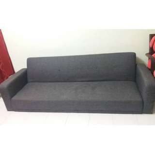 Grey sofa bed (3-seater)