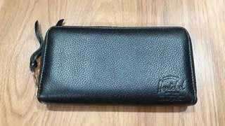 Original Herschel Black Leather Long Wallet