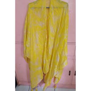 H&M Yellow Poncho/ Long Scarf/Beach Cover up