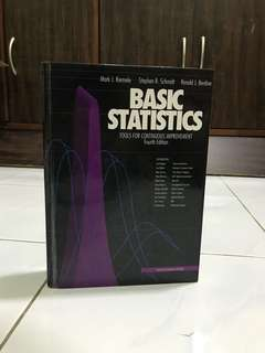 Basic Statistics : Tools For Continuos Improvement